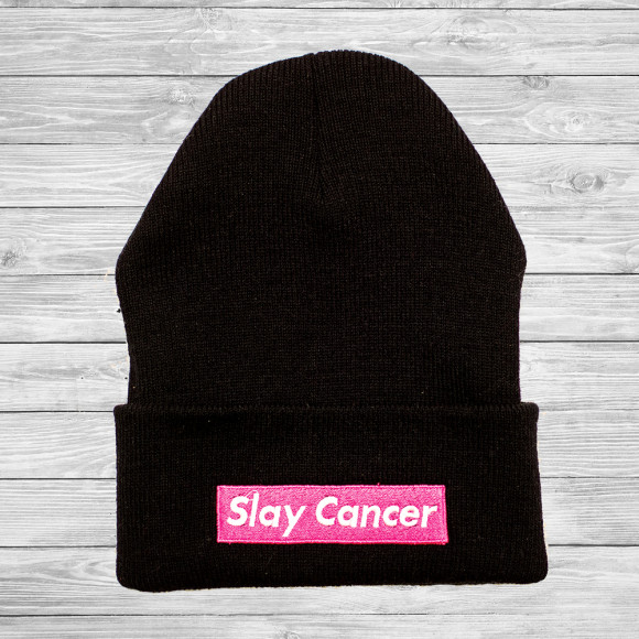 SlayCancer_Beanie_Black_001